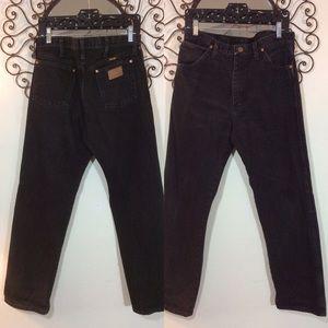 Wrangler Men's Black Denim Straight leg jeans